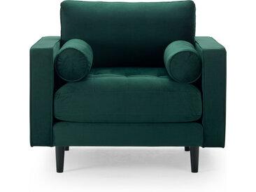 Sessel samt grün Merini