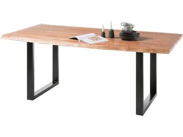 Baumtisch DELHI 180x90 cm Farbe Natur Akazie Massivholz von Empinio24