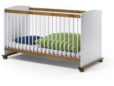 Kinderbett FIORE 70x140 Farbe Weiß Kiefer Massivholz von EMPINIO24
