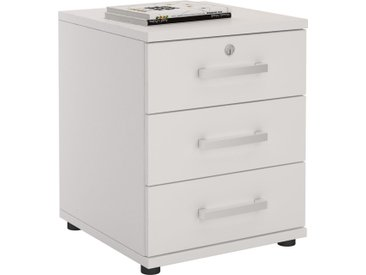 Bürocontainer TORONTO, 3 Schubladen in weiß