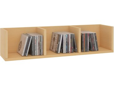 CARO-Möbel CD/DVD-Regal STARS mit 3 Fächern in buchefarben