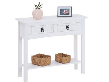 CARO-Möbel Konsolentisch RURAL Kiefer massiv mit 2 Schubladen, Mexico Möbel