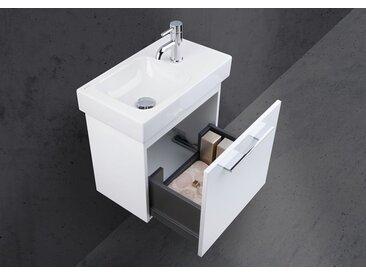 Geberit Icon XS 53x31 cm Waschbecken mit Unterschrank, Gästebad Made in Germany