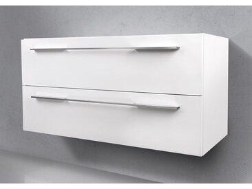 Waschtischunterschrank nach Maß, 2x Auszüge mit Softclose, Made in Germany Weiß Hochglanz Lack