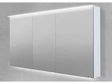 Spiegelschrank 140 cm LED Acryl Lichtplatte doppelt verspiegelt