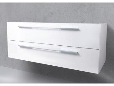 Waschtisch Unterschrank zu Laufen Kartell 120 cm Ablage rechts Weiß Hochglanz Lack