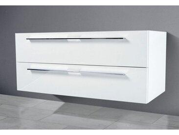 Waschtisch Unterschrank zu Villeroy & Boch Venticello Doppelwaschtisch 130cm Waschbeckenunterschrank Weiß Hochglanz Lack