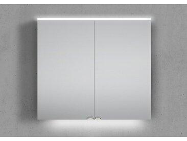 Spiegelschrank 80 cm integrierte LED Beleuchtung doppelseitig verspiegelt