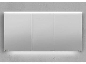 Spiegelschrank 140 cm integrierte LED Beleuchtung doppelt verspiegelt Avola Pine Champagner