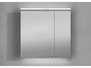 Spiegelschrank 60 cm mit LED Beleuchtung doppeltverspiegelt Weiß Hochglanz Lack