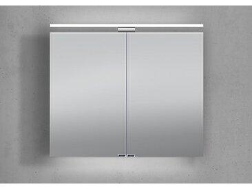 Spiegelschrank 80 cm inkl. LED Beleuchtung doppelt verspiegelt