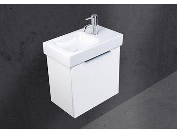 Gäste Badmöbel mit Geberit Icon XS 53 cm Waschtisch, Unterschrank mit Handwaschbecken
