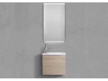 Gäste Badmöbel Rimini, Handwaschbecken, mit LED Lichtspiegel