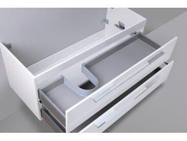 Waschtisch Unterschrank zu Laufen Kartell 60 cm Ablage rechts Weiß Hochglanz Lack