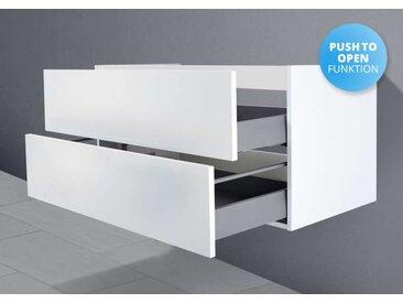 Unterschrank für Villeroy & Boch Avento Waschtisch 80 cm Grifflos Push To Open + Softclose Weiß Hochglanz Lack