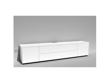TV-Lowboard Scaena Protekt 260 Weiß Hochglanz 260 cm breit mit viel Stauraum