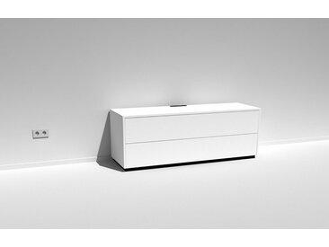 TV-Schrank Scaena Protekt 150 Weiß lackiert - kompakt mit Platz für 6 AV-Produkte -156 cm breit