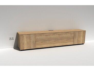TV-Lowboard Scaena Protekt 260 Eiche Halifax (Dekor) 260 cm breit mit viel Stauraum