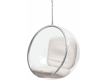 Eero Aarnio Originals Bubble Hängesessel Ohne Gestell White Leather
