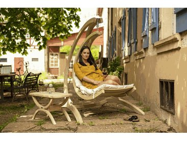 Amazonas Swing Chair Hängesessel Creme Mit Gestell (Globo Stand)