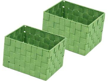Franz Müller Flechtwaren  Aufbewahrungsbox (Set, 23x15.5x18 cm (BxHxT), grün