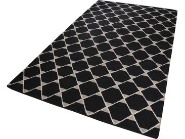 Esprit Wollteppich  »Aaron Kelim«, 4 mm Gesamthöhe, schwarz