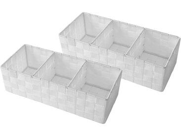 Franz Müller Flechtwaren  Aufbewahrungsbox (Set, 35x10x15 cm (BxHxT), weiß