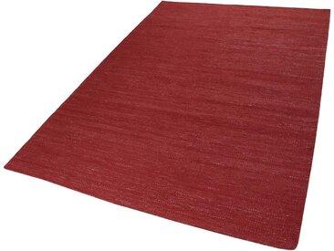 Esprit Teppich  »Rainbow Kelim«, 5 mm Gesamthöhe, rot