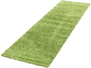 Ayyildiz Hochflor-Läufer  »Life Shaggy 1500«, 80x250x3 cm (BxLxH), besonders pflegeleicht, 30 mm Gesamthöhe, grün