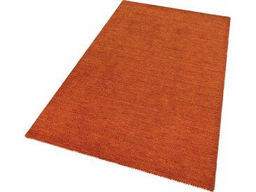 Theko Exklusiv Wollteppich  »Gabbeh uni«, 240x340x1.5 cm (BxLxH), aufwendige Handarbeit, 15 mm Gesamthöhe, orange