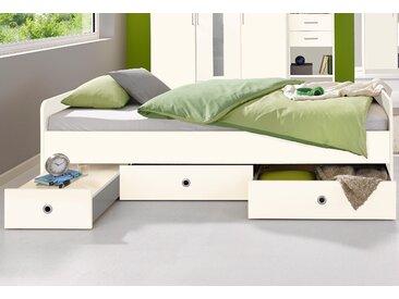 Wimex Funktionsbett »Lenny«, mit 1 herausziehbarem Nachttisch, weiß