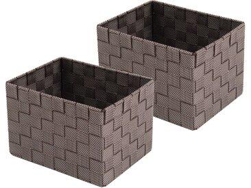 Franz Müller Flechtwaren  Aufbewahrungsbox (Set, 23x15.5x18 cm (BxHxT), braun