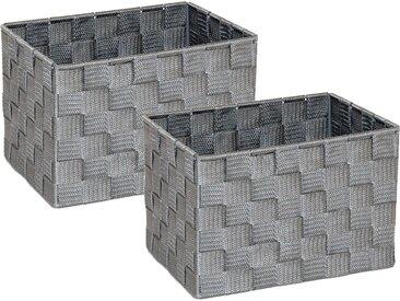 Franz Müller Flechtwaren  Aufbewahrungsbox (Set, 23x15.5x18 cm (BxHxT), grau