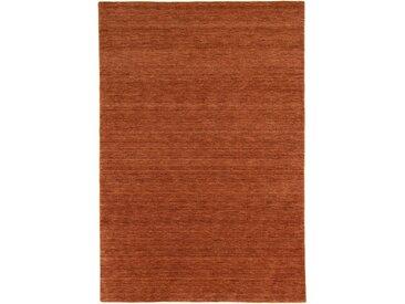 Morgenland Wollteppich  »GABBEH FEIN UNI«, 170x240x1.8 cm (BxLxH), 18 mm Gesamthöhe, beige