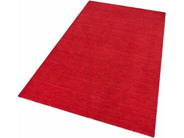 Theko Exklusiv Wollteppich  »Gabbeh uni«, 300x400x1.5 cm (BxLxH), aufwendige Handarbeit, 15 mm Gesamthöhe, rot