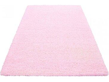 Ayyildiz Hochflor-Läufer  »Life Shaggy 1500«, 80x250x3 cm (BxLxH), besonders pflegeleicht, 30 mm Gesamthöhe, rosa