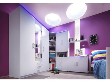 Jugendzimmer-Set, Schlafwelt, weiß