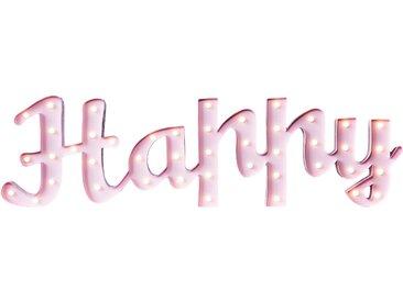 Marquee Lights  LED Dekolicht  »Happy Schriftzug«, 137x38x38 cm (BxLxH), rosa