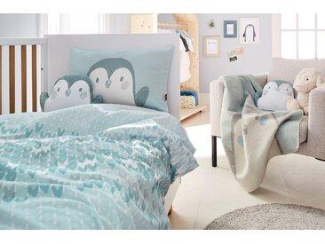 S.oliver Junior Babydecke »Pinguin«, 70x100 cm, blau