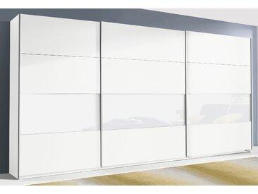 Rauch Schwebetürenschrank »Quadra«, T/H 62/210 bzw. 230 cm, weiß, Front mit Glaselementen