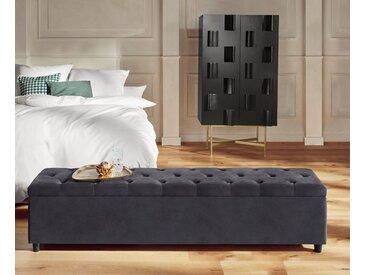 Guido Maria Kretschmer Home&living Bettbank »Relaxy«, 180x41.5x40 cm (BxHxT), pflegeleicht, grau