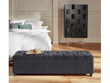 Guido Maria Kretschmer Home&living Bettbank »Relaxy«, 140x41.5x40 cm (BxHxT), pflegeleicht, grau
