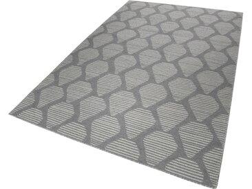 Esprit Wollteppich  »Rainns Kelim«, 4 mm Gesamthöhe, grau