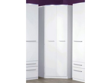 Priess Eckkleiderschrank »Barcelona«, 78x193x78 cm (BxHxT), weiß