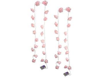 I.ge.a. LED-Lichterkette »Rose«, rosa