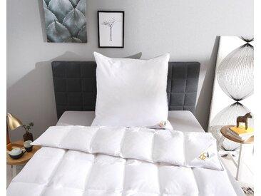 Obb Daunenbettdecke + Kopfkissen »Edition 120 Jahre OBB«, 135x200 cm + 80x80 cm, weiß