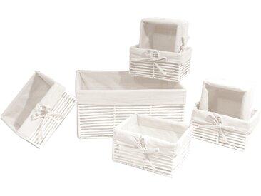 Franz Müller Flechtwaren  Aufbewahrungsbox (Set, 11x16x21 cm|39 (BxHxT), weiß