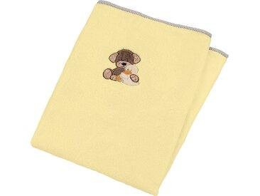 Sterntaler® Babydecke »Hanno u. Edda«, 75x100 cm, gelb