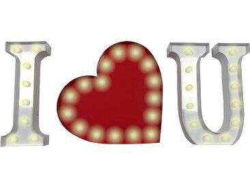 Marquee Lights  LED Dekolicht  »I Herz U«, 69x31x31 cm (BxLxH)