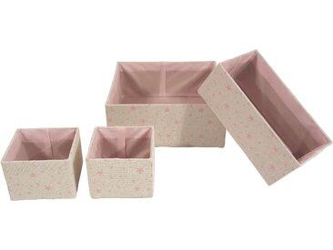Franz Müller Flechtwaren  Aufbewahrungsbox  (Set »Kids«, 13.5x10x13.5 cm|13,5 (BxHxT), rosa